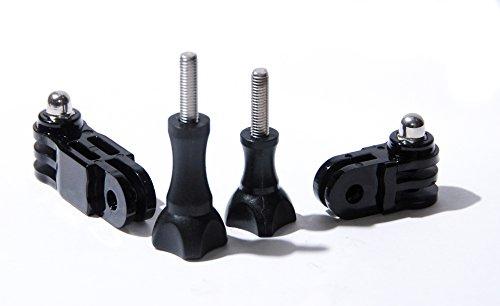 PROtastic, supporto pivot a tre direzioni per GoPro e casco macchina fotografica SJCAM di 3M, confezione da 2
