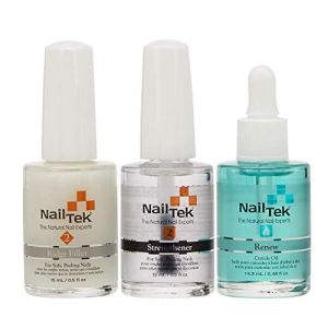 Nail Tek Nail Recovery Kit, Cuticle Oil, Strengthener, Ridge Filler - Restore Damaged Nails in 3 Steps 50