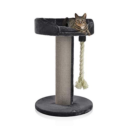 CanadianCat Company ® | Kratzbaum - Lounge Ontario XXL grau mit 20cmØ Sisalstamm, ideal auch für große und schwere Katzen wie z.B. Maine Coon