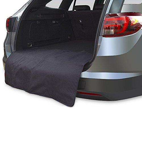 Achilles Kofferraumdecke mit Ladekantenschutz, Kofferraumschutz, Kofferraummatte, Stoßstangenschutz schwarz, 100 cm x 70 cm