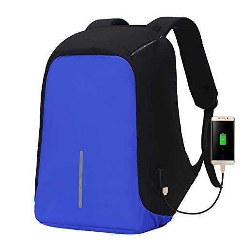 Water Resistant Laptop Backpack, Lightweight computer backpack with USB Charging Port large capacity for travel,business men women bag for 14 15.6 inch Notebook, Black
