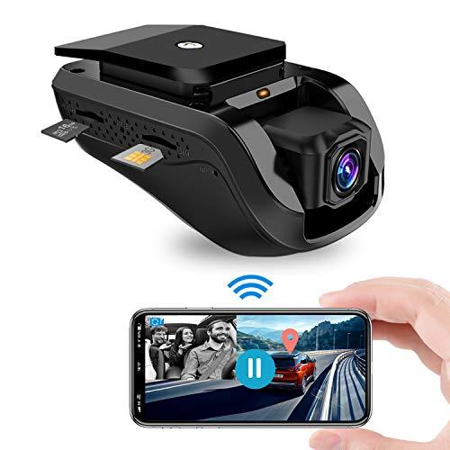 Dashcam, Jimi Autokamera 1080P Front WiFi Kamera mit Live-Video für Auto...