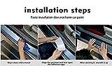 QUXING Protector Parachoques Trasero Protección Anti-Rayada PU de Cuero de la PU Strip Pegatina Coche Trasero de parachoque Almohadilla para Jaguar XE Protector del Maletero Placa (Color : Blanco)