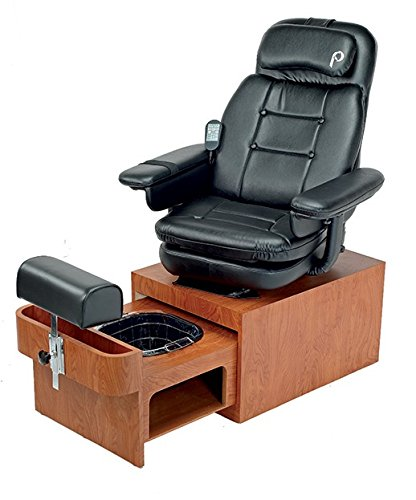 Pibbs Portable Made in The U.S.A PS93 Footsie Pedicure SPA, Black/Wood