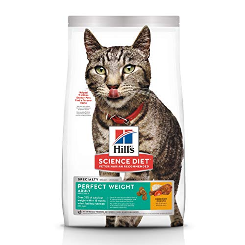 Hills-Science-Diet-Dry-Cat-Food-Adult-Perfect-Weight-for-Healthy-Weight-Weight-Management-Chicken-Recipe-15-Lb-Bag