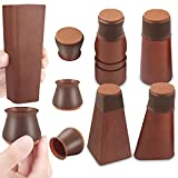 Chair Leg Protector for Hardwood Floors, 32 Pcs Silicone Chair Leg Caps, Felt Furniture Pads for Protecting Wood Floors from Scratches and Noise, Smooth Moving for Chair Seats, Fit:1.18-1.65 Inch
