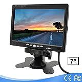 Lychee Rückfahrkamera (7 Zoll) TFT LCD-Monitor für Auto Kamera,LED-Hintergrundbeleuchtung,800 x 480 hoher Auflösung,mit Fernbedienung und Montagehalterung