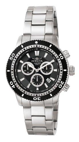 Invicta 1203 Specialty Herren Uhr Edelstahl Quarz schwarzen Zifferblat