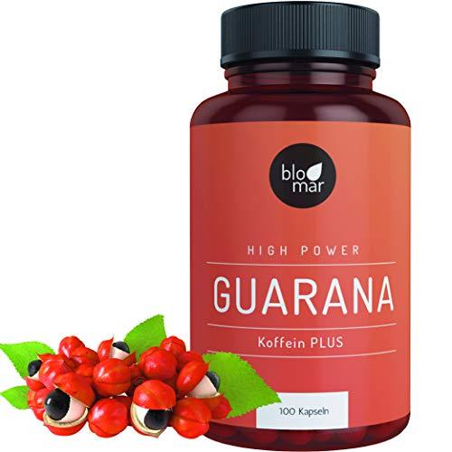 Guarana Kapseln Koffein PLUS - Kraftvoll & Effektiv - High Power Energizer gegen Müdigkeit - Premium Naturqualität Hergestellt in Deutschland - 3 Monatspackung