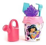 Smoby- CUBO MM Completo PRINCESAS Disney Princess Set Mare cm. 16-7 Accessori Inclusi (Paletta rastrello, Secchiello), Colore Rosa, 862090