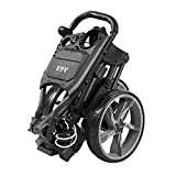 KVV 3 Wheel Foldable/Collapsible Golf Push Cart Ultra Lightweight Smallest Folding Size, New-Version...