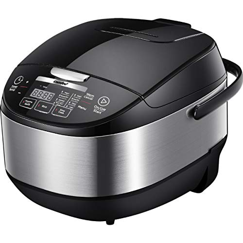 COMFEE' 5.2Qt Asian Style Programmable All-in-1 Multi Cooker, Rice Cooker, Slow cooker, Steamer, Saut, Yogurt maker, Stewpot with 24 Hours Delay Timer and Auto Keep Warm Functions