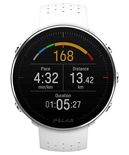 Polar Vantage M, Sportwatch per Allenamenti Multisport, Corsa e Nuoto, Impermeabile con GPS e Cardiofrequenzimetro Integrato, 46 mm, Unisex Adulto, Bianco, M/L