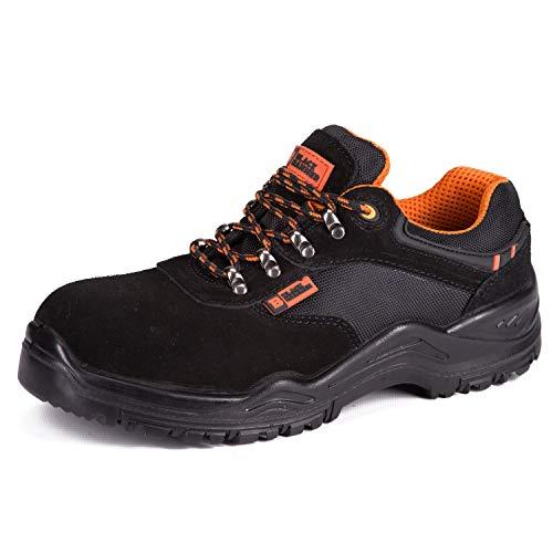 Calzado Deportivo de Seguridad S1P SRC con Puntera Ultraligera de conglomerado Zapatos de Trabajo al Tobillo de Senderismo con Suelas centrales de Kevlar 1557 Black Hammer Black Hammer (43 EU)
