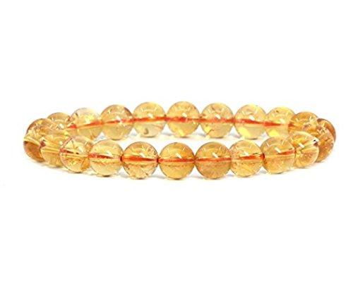 Natural Yellow Citrine Bracelet 7.5 inch Stretch Gemstone...