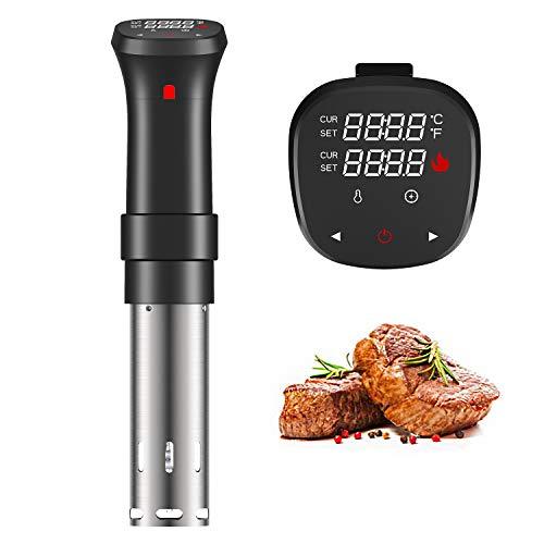 Fityou Sous Vide 1100W Slow Cooker Circolatore Termico Temperatura Controllata e Timer Immersione per Cottura a Bassa Temperatura con Ricettario, Nero