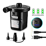 Dr.meter Rechargeable Air Pump, HT-420 Portable Electric Air Pump Quick-Fill Inflator Deflator Air Mattress Pump (Rechargeable Air Pump)