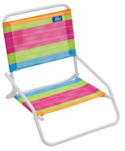 RIO Beach Wave 1-Position Beach Folding Sand Chair - Summer Stripes