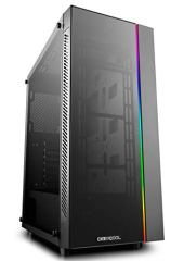 DEEPCOOL MATREXX 55 ADD-RGB Case, E-ATX Supported, Motherboard or Button Control of SYNC of Addressable RGB Devices of Any Brands, 4mm Full Sized Tempered Glass