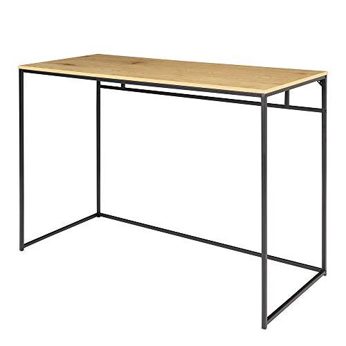 Selsey Tavolo da ufficio, nero, 100 x 75 x 45 cm