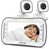 Video Baby Monitor, 4.3' High Resolution Display, 2 Cams for 2 Rooms, 15-Hour Battery Life, 1000ft Range, 2-Way Communication, Secure Privacy Wireless Technology