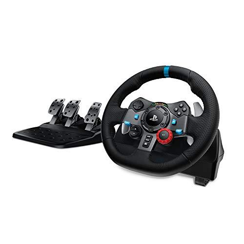 Logitech G29 Driving Force Volante de Carreras y Pedales, Force Feedback, Aluminio Anodizado,...