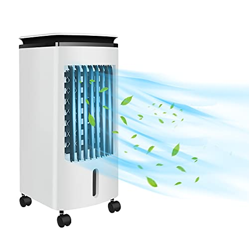 LZQ Climatiseur mobile sans tuyau d'évacuation d'air 4 l 3 en 1 Capacité 80 W Climatiseur Ventilateur Refroidisseur d'air avec humidification Purificateur d'air TYP-3