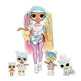 LOL Surprise OMG Bon Bon Family with 45+ Surprises Including Candylicious OMG Doll, Bon Bon, Bling...