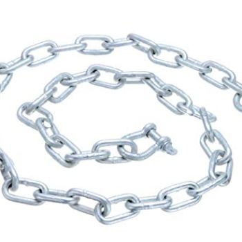 "Seachoice 44121 Galvanized ¼"" x 4 Anchor Lead Chain with (2) 5/16' Galvanized Shackles, One Size"