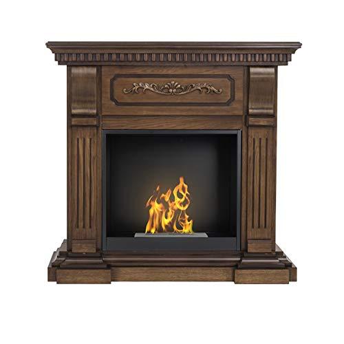 AFLAMO Bio-Fireplace Riviera with Insert Organic 60 Tüv Walnut