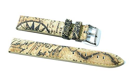 Cinturino orologio vera pelle imbottito ansa 16mm tipo alviero martini 1 classe