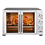 LUBY Large Toaster Oven Countertop, French Door Designed, 18 Slices,...