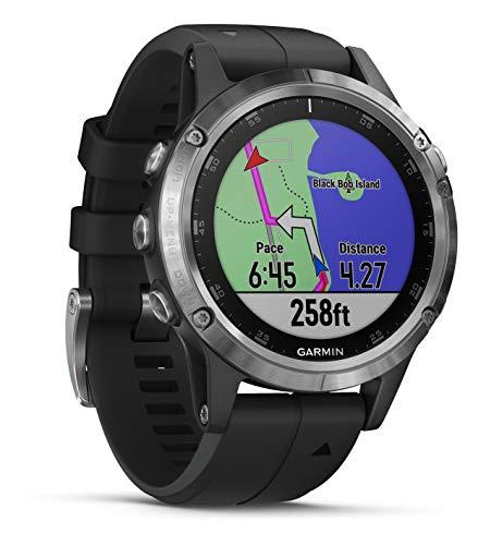 Garmin Fenix 5 Plus - Reloj GPS multideporte, Plata con correa...