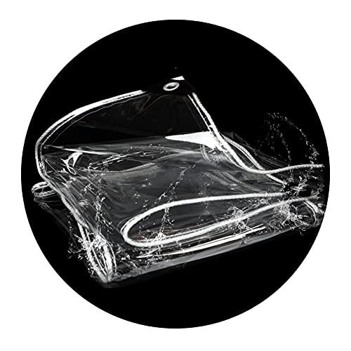 ZEMIN Lona Transparente, Exterior Lona Impermeable Impermeable Lonas Impermeables Exterior Marquesina De Aislamiento Cubierta De Cristal De PVC, 450g/㎡ (Color : Claro, Size : 0.5x1.5m)