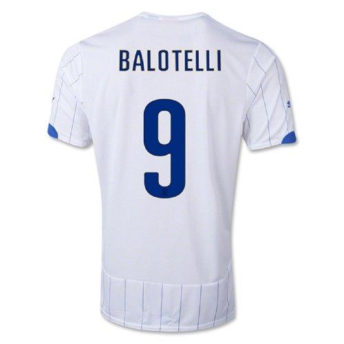 Puma Balotelli # 9 Italia Trasferta Coppa del Mondo di maglia 2014 (Giovanile) (YXL)