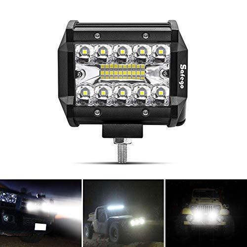 Safego 4' 60W Faro da Lavoro Luce Barra 1260LM Faretto a LED Impermeabile IP67 Fendinebbia Luci per...