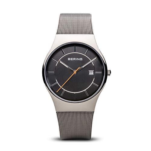 BERING Herren-Armbanduhr Analog Quarz Edelstahl 11938-007