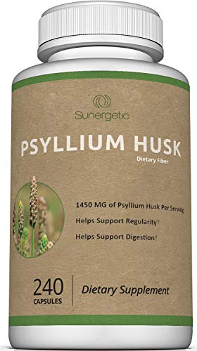 Premium Psyllium Husk Capsules - 725mg of Psyllium Husk per Capsule - Powerful Psyllium Husk Fiber Supplement Helps Support Digestion, Intestinal Health & Regularity – 240 Psyllium Husk Fiber Capsules