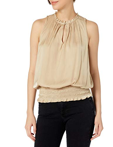 41FmH0HMPcL. SL500 Sleeveless V-neck Smocked waistband