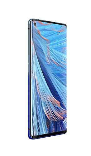OPPO Find X2 Neo Smartphone débloqué 5G/4G - 256 Go - 12 Go de RAM -Batterie 4025 mAh avec Technologie de Charge Rapide VOOC 4.0 - USB-C - Android 10 - Téléphone Portable Bleu Stellaire