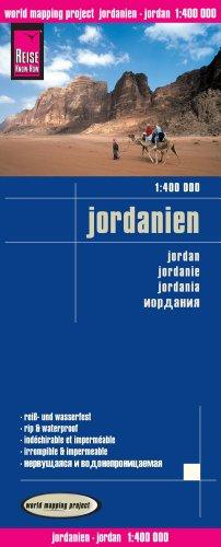 Jordania, mapa de carreteras impermeable. Escala 1:400.000. Reise-Know-How.