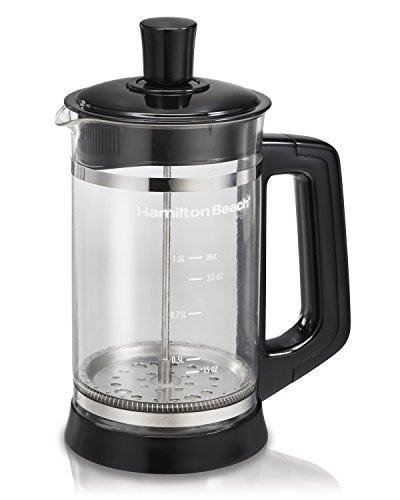 French Press Coffee Maker, Black, Hamilton Beach