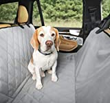 Plush Paws Products Hammock Car Seat Cover with Pet Harnesses, Extra Large (Grey)