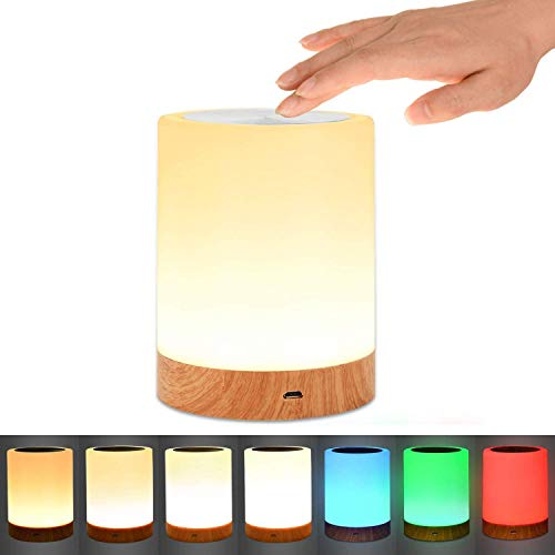 Night Light, UNIFUN Touch Lamp for Bedrooms Living Room Portable Table Bedside Lamps with Rechargeable Internal...