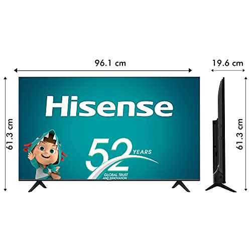 41Fpk+IZHTS Hisense 108 cm (43 inches) 4K Extremely HD Sensible Licensed Android LED TV 43A71F (Black) (2020 Mannequin)   With Dolby Imaginative and prescient and ATMOS