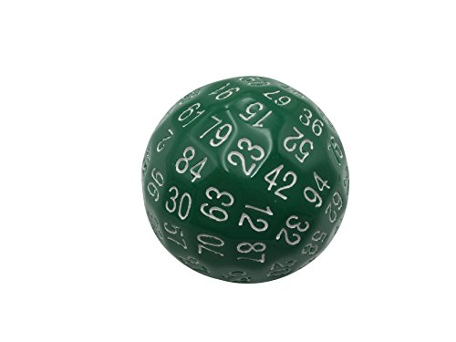 Skull Splitter Dice Single 100 Sided Polyhedral Dice (D100) | Solid Green Color...
