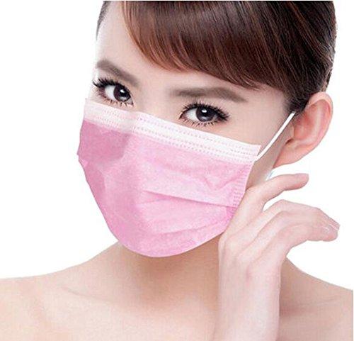 Erioctry Mascherina antipolvere, protettiva per il viso, chirurgica, monouso, con elastici per le orecchie, ideale per salone di bellezza, confezione da 50