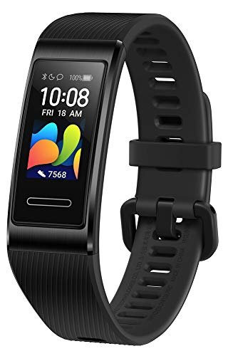 HUAWEI Band 4 Pro Smart Band Fitness Tracker, Touchscreen AMOLED 0.95, Monitoraggio Battito Cardiaco, Monitoraggio Scientifico del Sonno, GPS Integrato, Resistente allAcqua, Black