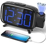ELEHOT Réveil Projection Plafond Radio Reveil Projecteur 180° Horloge...