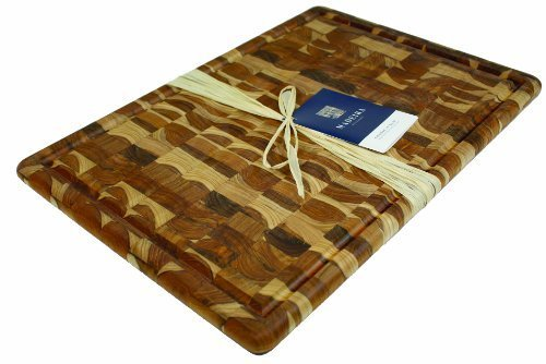 Madeira Provo Teak Edge-Grain Carving Board, Extra Large by Madeira Products